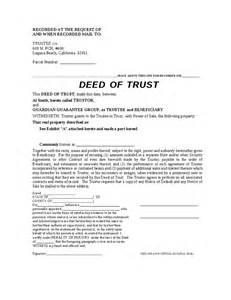 Trust Deed Template by Blank Deed Of Trust Hashdoc