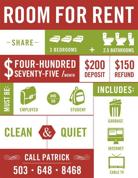 for rent flyers templates flyer idea room for rent home design pinterest