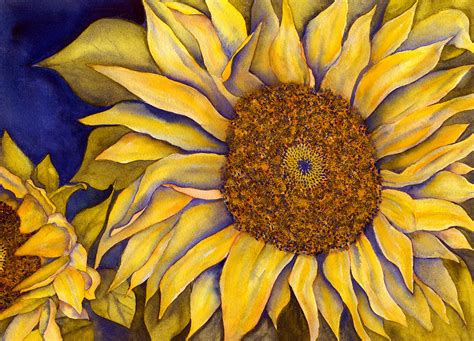 yellow sunflower painting by diane ferron