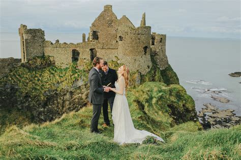 Elopement Inspiration at an Irish Castle   Green Wedding Shoes