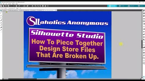 youtube layout is broken silhouette studio how to piece together a design store
