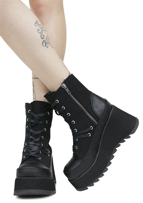 Lace Up Platform Boots demonia lace up platform boots dolls kill