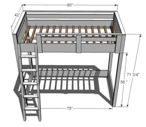 Long And Low Bookcase Ana White Build A How To Build A Loft Bed Free And