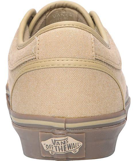vans chukka low canvas gum skate shoes zumiez