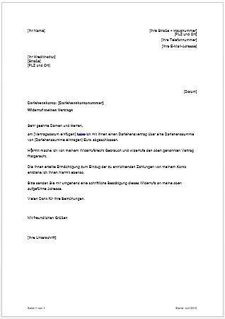 dsl bank email widerruf kreditvertrag widerrufsrecht bei darlehen
