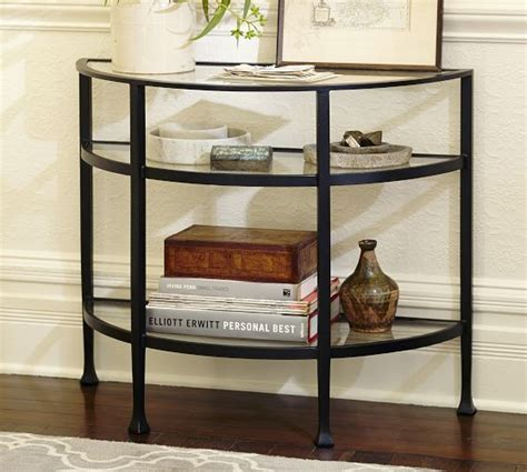 Pottery Barn Entry Table by Demilune Console Table