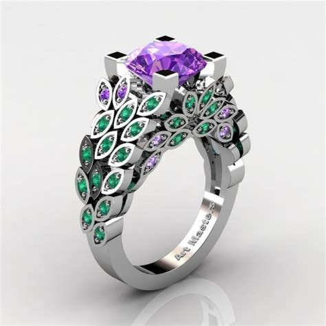 masters nature inspired 14k white gold 3 0 ct amethyst