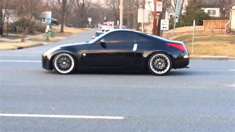 slammed nissan 350z smg89s lowered 350z youtube