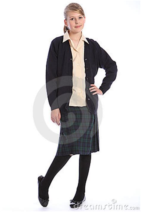 school girl uniform stock photos pictures royalty free high school education blonde girl in uniform royalty free