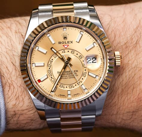 Rolex Giveaway 2017 - rolex sky dweller watches in two tone steel gold hands on ablogtowatch