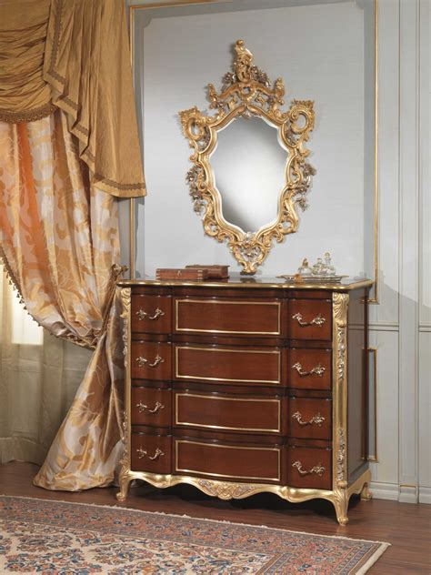 classic italian bedroom  century chest  drawers  wall mirror vimercati classic furniture