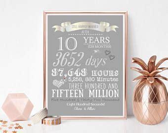 Hochzeit 10 Jahre by 10 Jahre Hochzeit Etsy