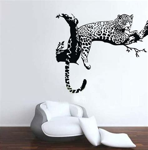 elephant wall decal animal zoo leopards cheetahs wall decal sticker living room