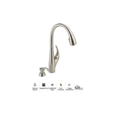 delta 19912 sssd dst stainless steel deluca pullout spray
