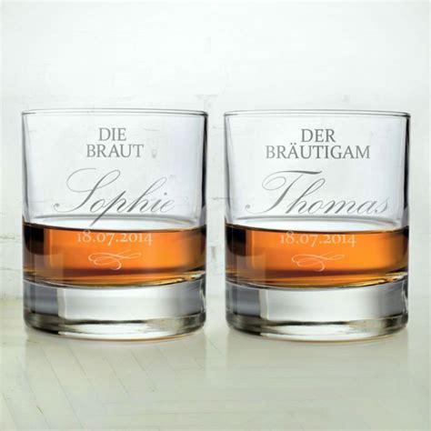braut geschenk bräutigam whiskygl 228 ser zur hochzeit braut und br 228 utigam