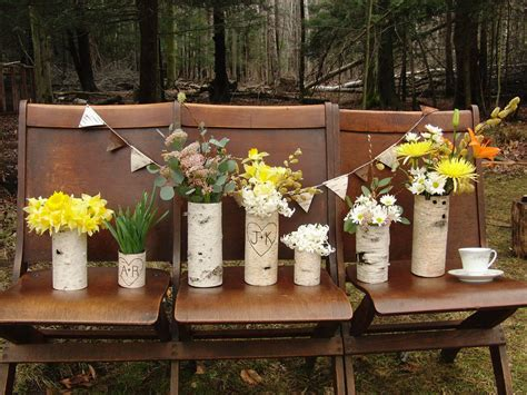 Simple Wedding Centerpieces For A Handcrafted Wedding Rustic Wood Wedding Centerpieces