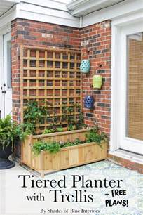 trellis for patio how to build a cedar tiered planter with trellis