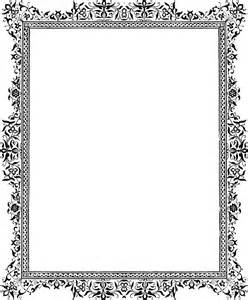 simple scroll corner border viewing gallery