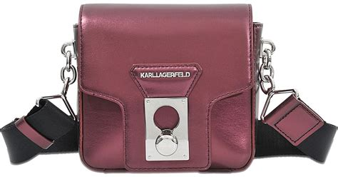 Karl Lagerfeld Says Get A Bag Perhaps From His New Purse Line by Karl Lagerfeld K Pin Closure Crossbody Bag In Pink Lyst
