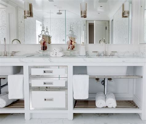 Spa Like Bathroom Vanities by Spa Like Bathroom With Custom Vanity And Built In Mirror With Inset Sconces Sinks With
