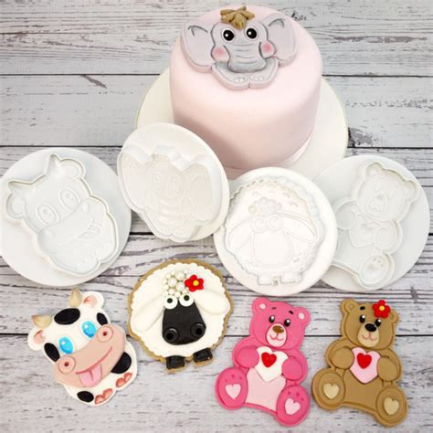 Plunger Animal Set 4 biscuit pastry and cookie cutters