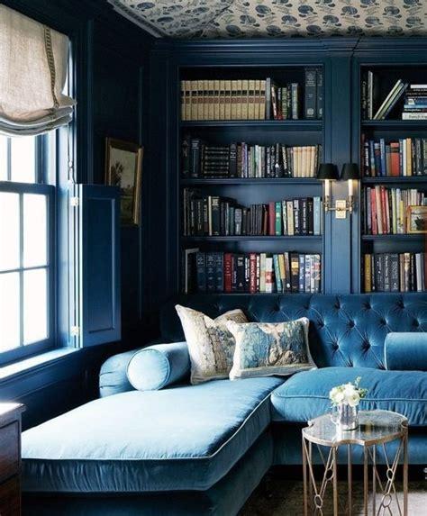 beautiful dark blue wall design ideas