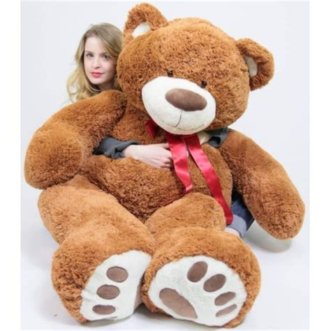 big teddy walmart 5 foot big smiling teddy 60 inch soft brown