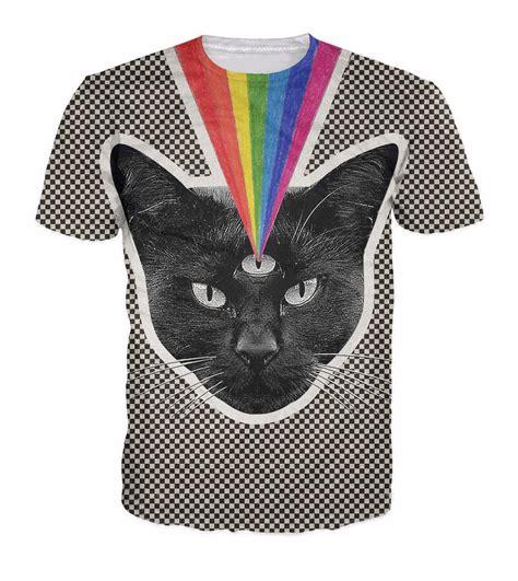 T Shirt Kaos 3d Rainbow Eye Kaos 3d Murah Bandung illuminati cat t shirt judelovesyou