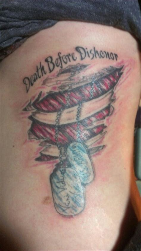 death before dishonor i my army tattoo tattoos