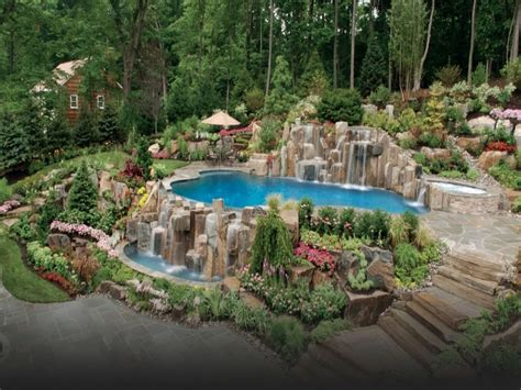 Backyard Designs With Inground Pools Pool Stickers Swimming Pool Landscape Design Swimming
