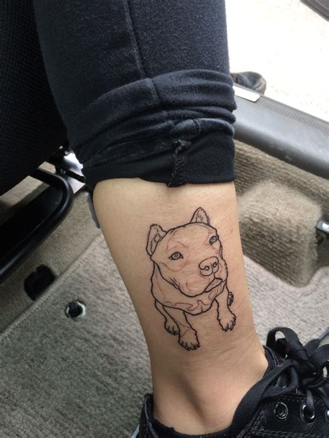 dog outline tattoo pitbull outline my uploads