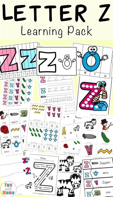 Letter Z letter z worksheets for preschool kindergarten