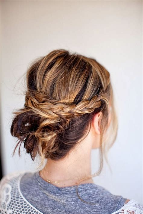 Braided Hairstyles For Hair Easy by 20 Easy Updo Hairstyles For Medium Hair Pretty Designs