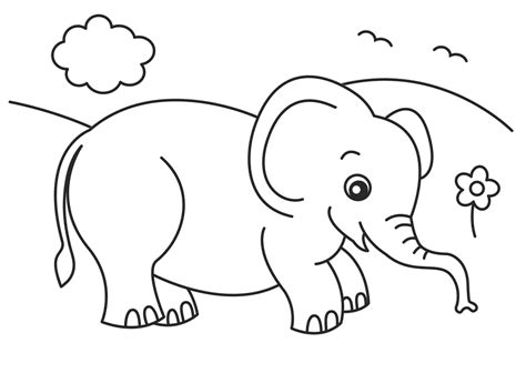Baby Elephant Coloring Pages To Download And Print For Free Elephant Colouring Page