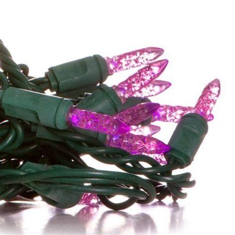 led m5 mini replacement christmas light bulbs 50 mini purple led christmas light set green wire by