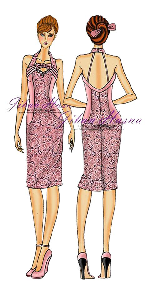 sketsa desain dress batik design kebaya dress muslimah auto design tech