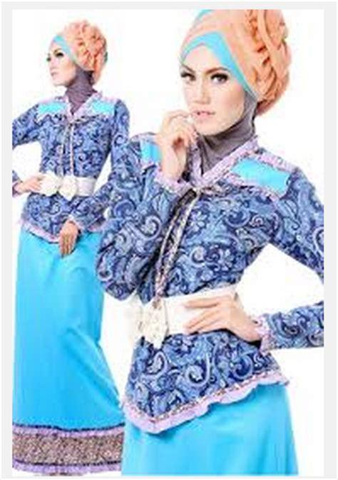 Cgd Yolanda Biru Baju Muslim 1 kumpulan gambar baju muslim batik modern terbaru lengkap