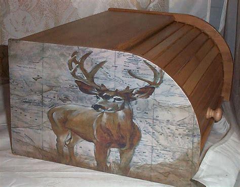 Deer Decor by Deer Moose Bread Box Bamboo Wood Cabin Lodge Kitchen