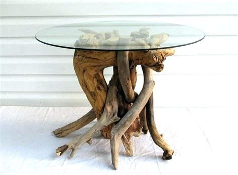driftwood coffee table with glass top glass top driftwood coffee table