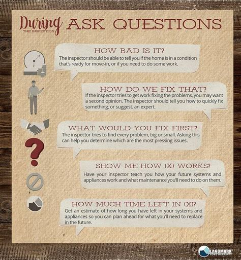 questions you should ask during a home inspection to get