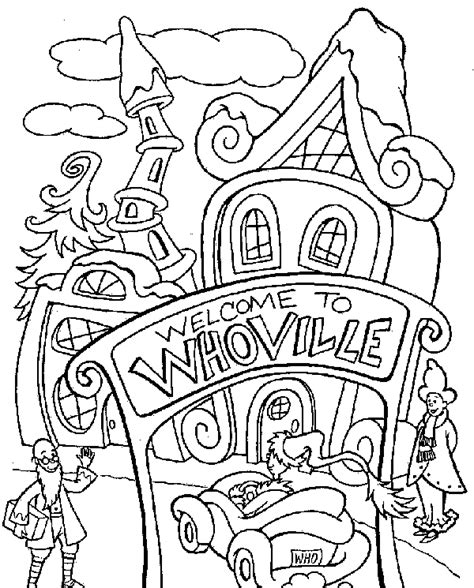 dr seuss grinch coloring pages in christmas
