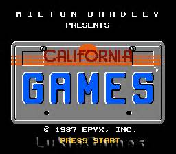 California Games Nes Nintendo Game