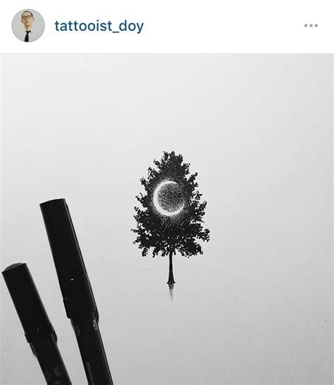 tree and moon tattoo 1000 ideas about crescent moon tattoos on