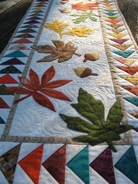 table runner quilt patterns autumn flight table runner by 2strings craftsy