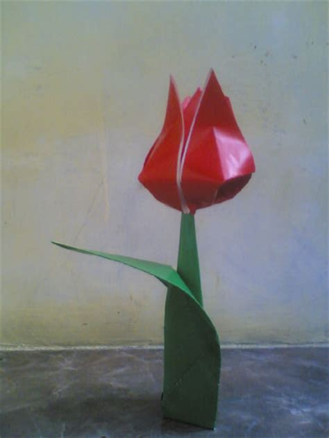 origami traditional tulip leaf folding how