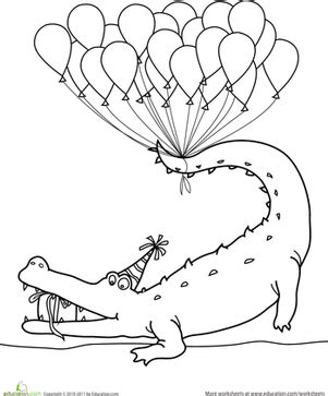 happy birthday animal coloring pages happy birthday coloring worksheet education com