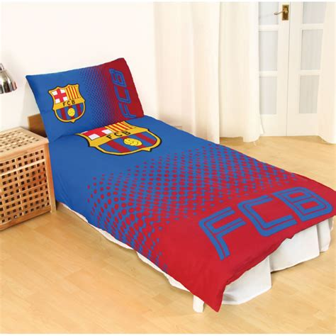 barcelona fc bedroom set fc barcelona fade single duvet cover set official football