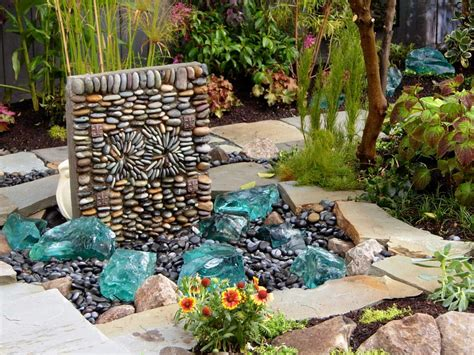 yard features diy rock water feature backyard design ideas
