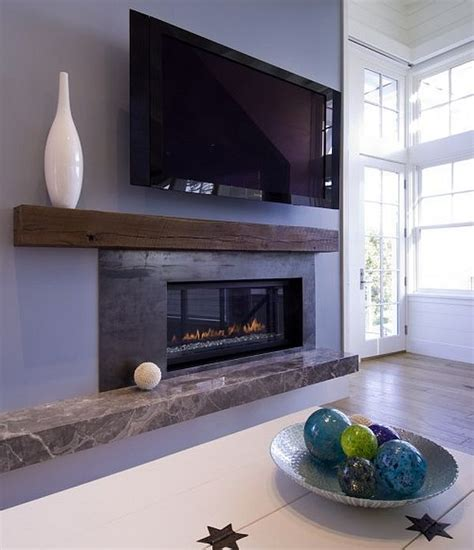 awesome living room with fireplace and wooden mantel ideas