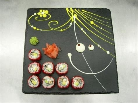 painted sushi plates for creative table